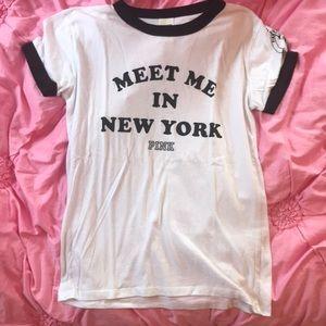 Meet me in New York PINK t shirt